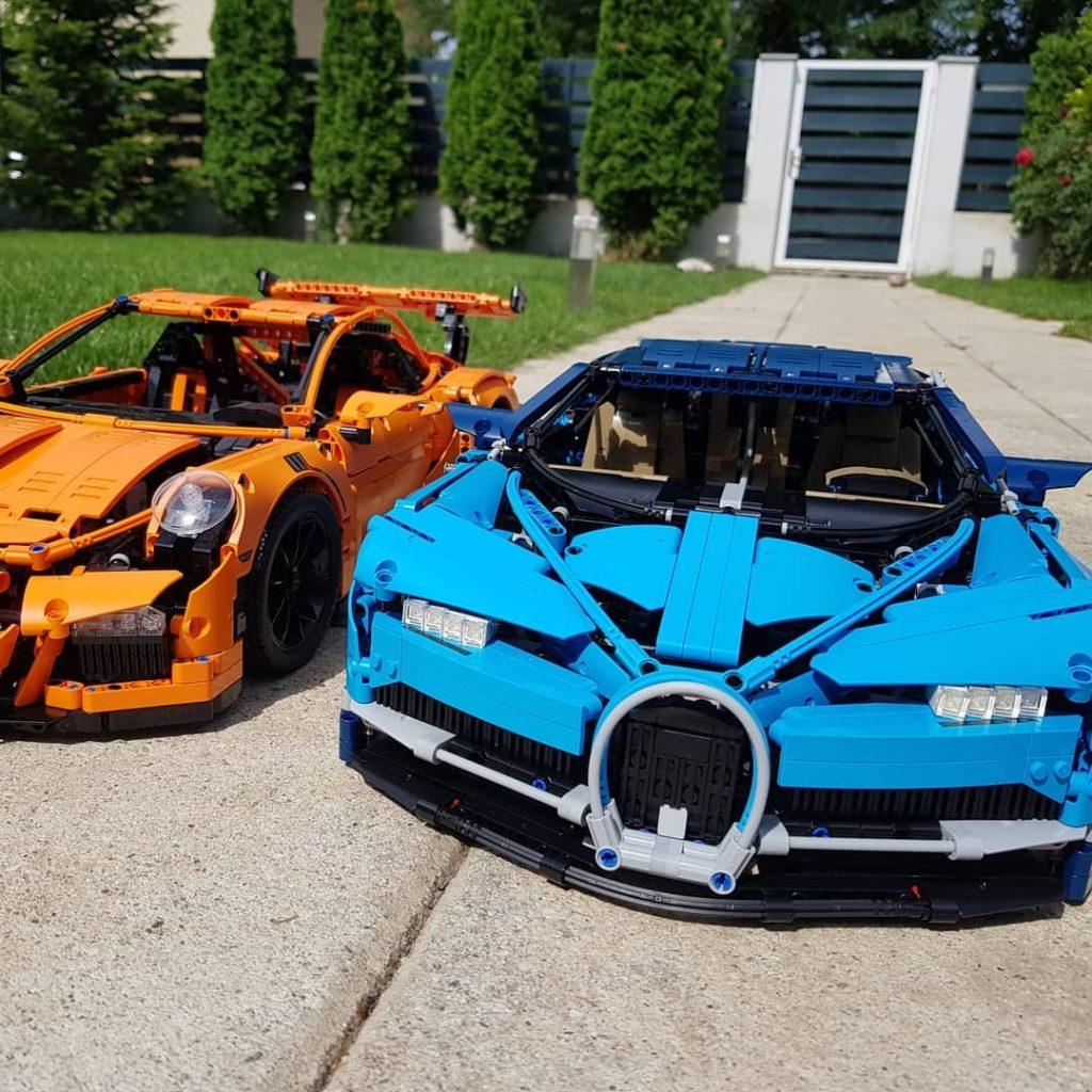 Lego Supercars Porsche 911 en Bugatti Chiron