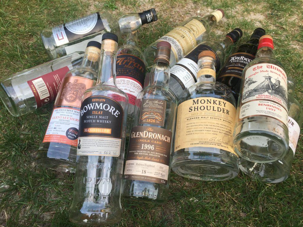 Lege Whisky flessen nooit weggooien